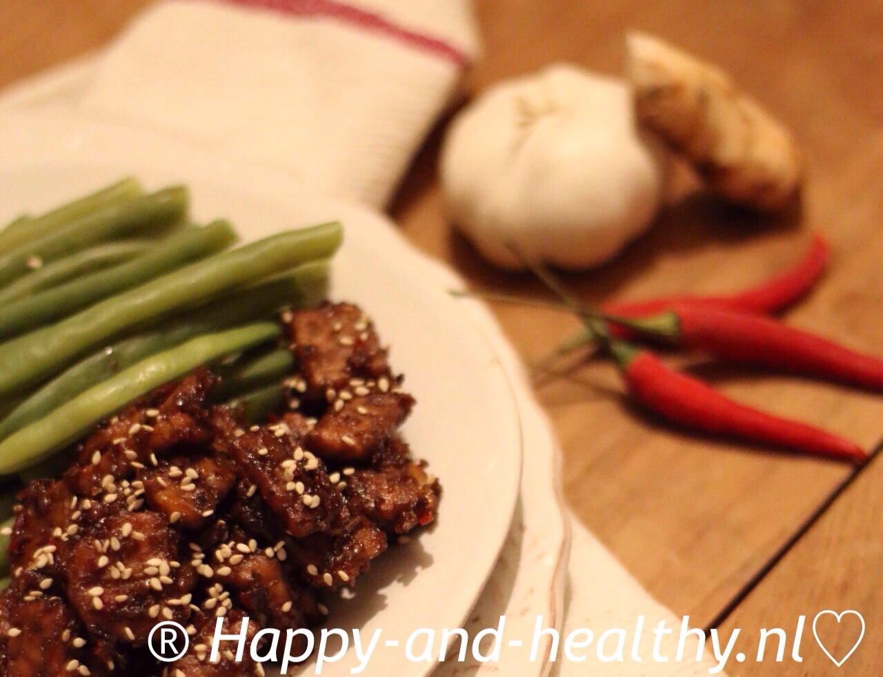 Spicy vega tempé I Happy and Healthy