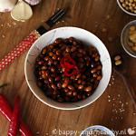 Spicy sojabonen; lekker als bijgerecht of over de salade!