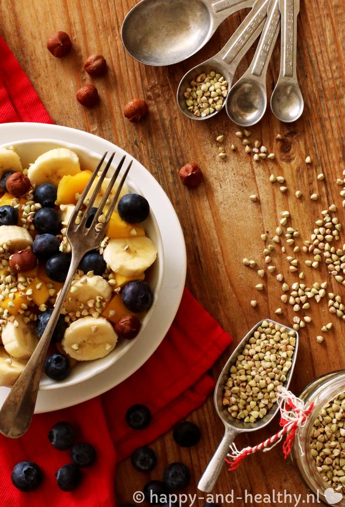 Boekweit crunchy fruitsalade; start je dag happy 'n healthy!