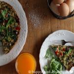 Frittata met paprika, courgette en champignons hmmmm