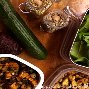 Maaltijdsalade To Go Met Zoete Aardappel En Avocado Volgens Het 7 Stappenplan