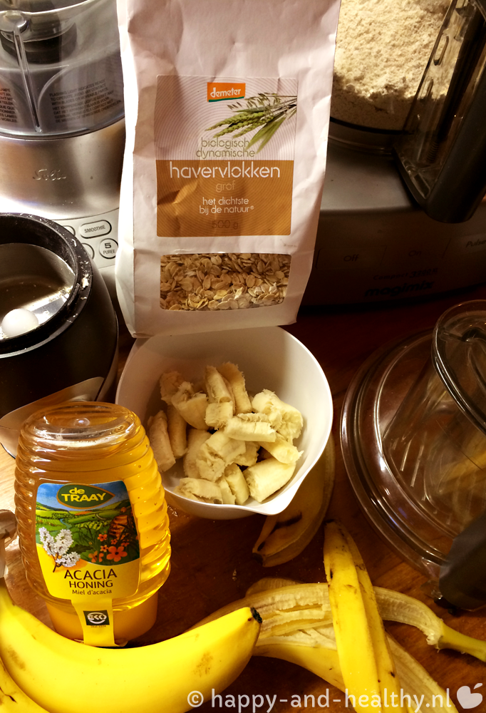 Ingredienten raw bananenbrood!