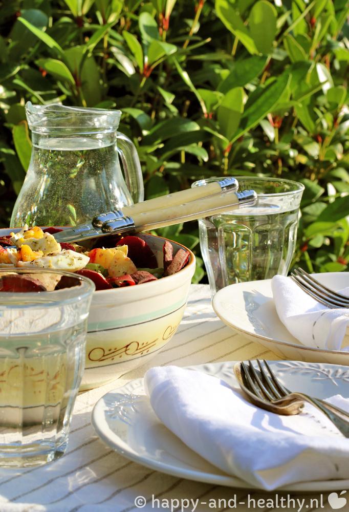 Zomerse powerfood salade, deze keer met briljante bieten