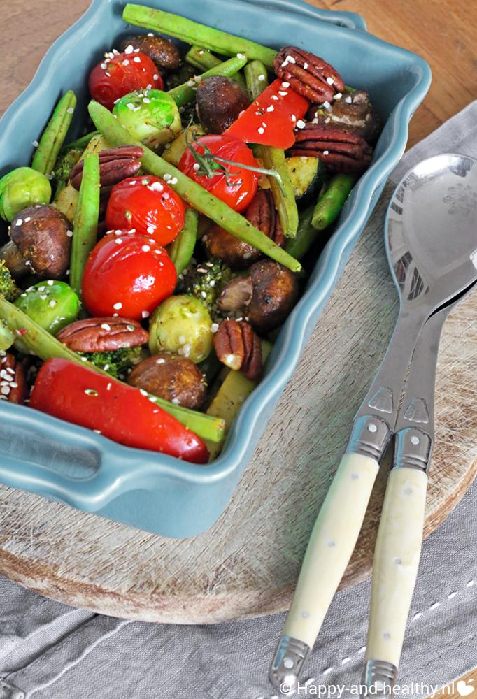 gegrilde groenten salade, hmmmm makkelijke maandag