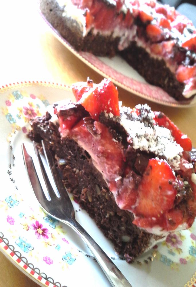 Gastblog: Helma - Aardbeien choco taart