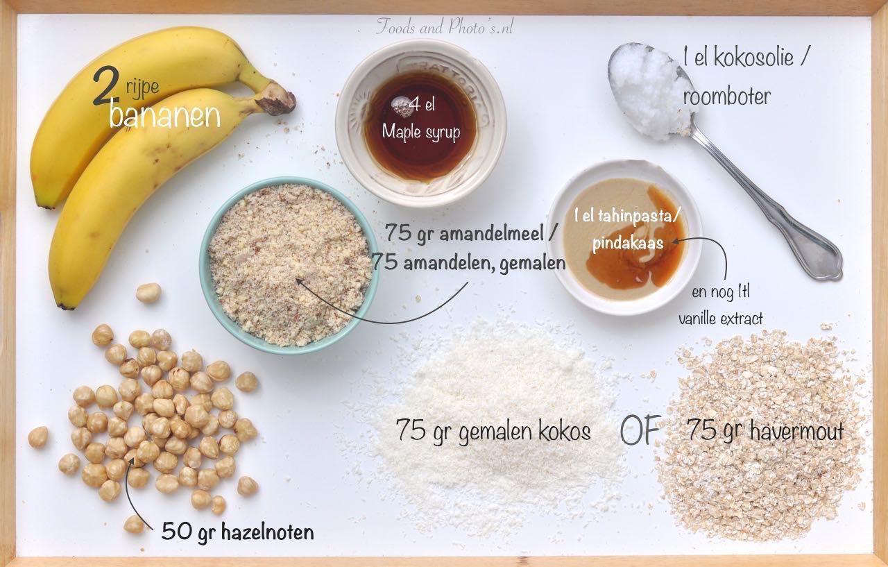 Gastblogger Naomi, ingrediënten bananenkoekjes