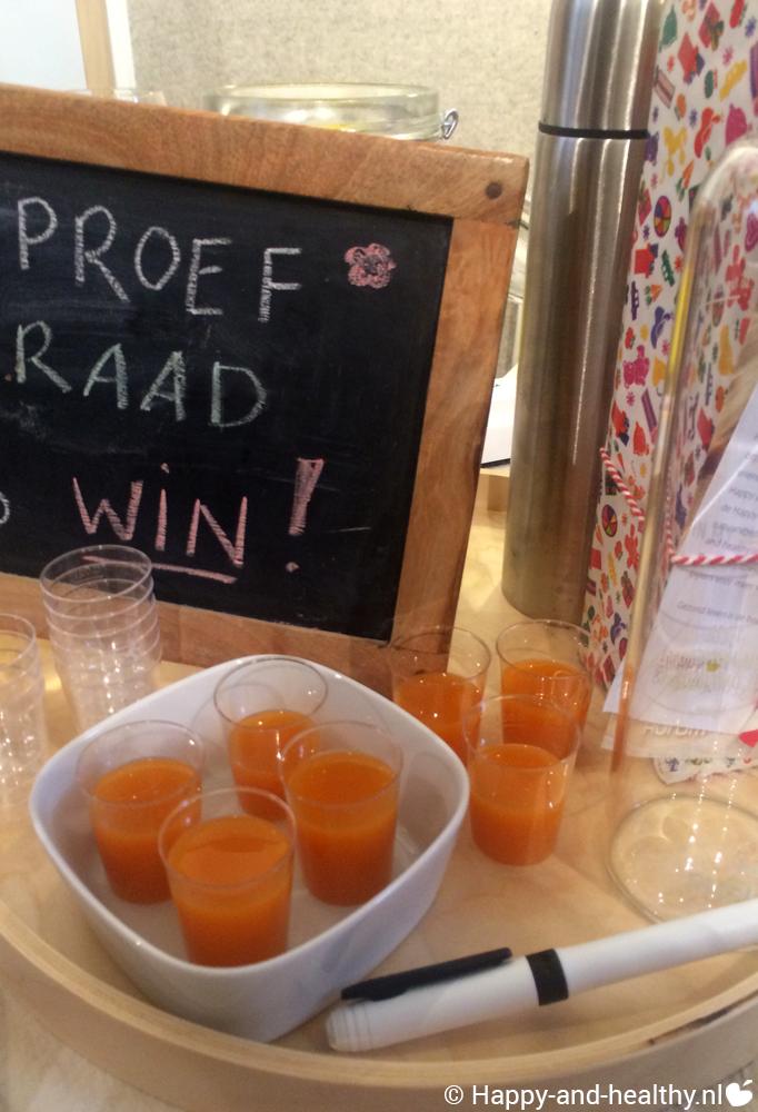 Slow juice: smaak en raad test, Hurom sapbeker winactie, lancering Natuurlijk samen komen op 14 november te Gouda