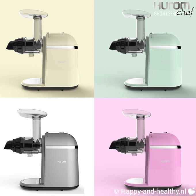 Winactie Hurom slowjuicer model Chef - mooie pastel kleuren
