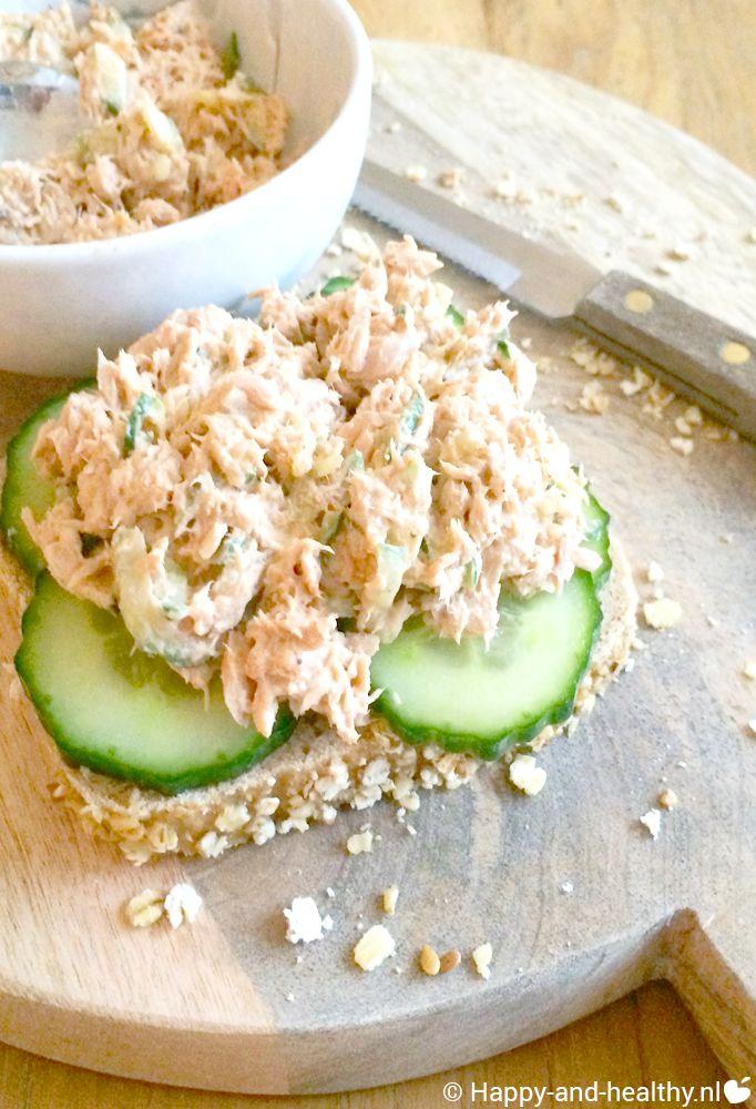 Yam desem brood Ralp Moorman met zelfgemaakte tonijnsalade